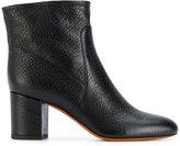 Santoni block heel ankle boots - women - Leather/rubber - 36