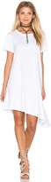 Wilt Slub Slant Hem Trapeze Dress