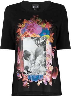 Just Cavalli patch-work print T-shirt