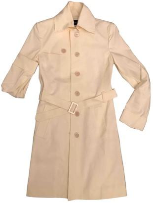 Patrizia Pepe Ecru Cotton Coat for Women