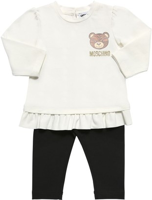 Moschino L/s Cotton Jersey T-shirt & Leggings