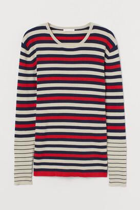 H&M MAMA Ribbed Jersey Top