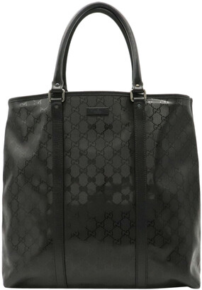 Gucci Black Imprime Leather Tote Bag