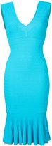 Jay Godfrey v-neck fitted dress - women - Viscose/Polyester - S