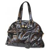 Saint Laurent Muse patent leather tote