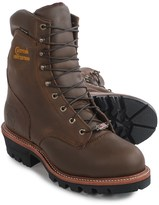 """Chippewa Super Logger Steel Toe Work Boots - Waterproof, Insulated, 9"""" (For Men)"""