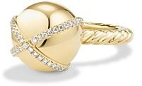 David Yurman Solari Double Pave Wrap Ring with Diamonds in 18K Gold