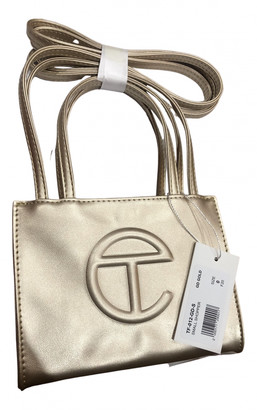 Telfar Gold Leather Handbags