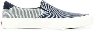 Vans low top striped sneakers