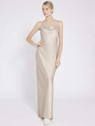 Alice + Olivia Harmony Drapey Slip Maxi Dress