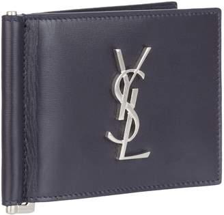 Saint Laurent Monogram Money Clip Wallet