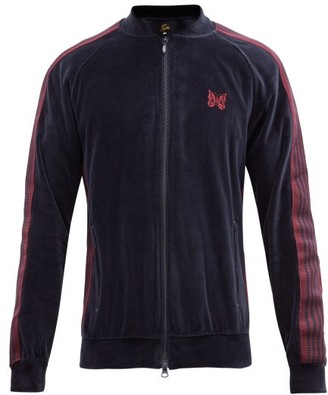 Needles Butterfly-embroidered Cotton-blend Track Jacket - Navy