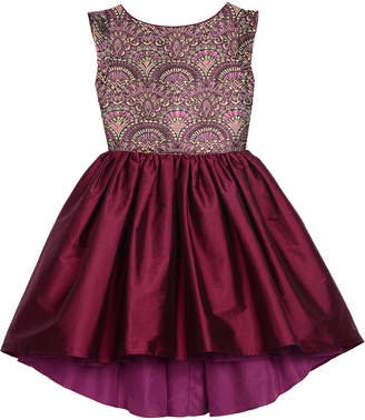 Badgley Mischka Belle By Jacquard Fit-and-Flare Dress, Sizes 7-16