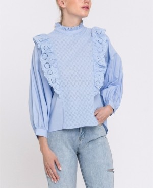 Endless Rose Ruffled Blouse with Wide Sleeve
