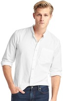 Gap Oxford band collar slim fit shirt