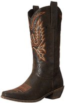 AdTec Women's 14 Inch Western Pull On Fancy Work Boot