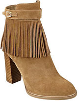 Ivanka Trump Preta Fringed Suede Ankle Booties