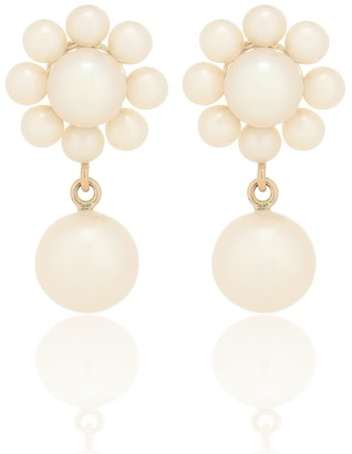 Sophie Bille Brahe Margherita Perle 14kt yellow-gold earrings with pearls