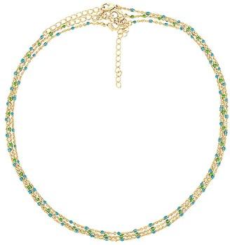 Joy Dravecky Jewelry Enamel Beaded Choker Set