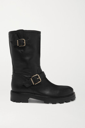 Jimmy Choo Biker Ii Leather Boots - Black