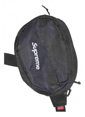 Supreme Black Cloth Clutch bags