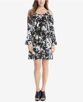 Karen Kane Printed Cold-Shoulder Dress