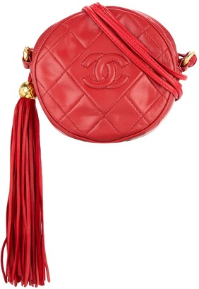 Chanel Pre-Owned 1989-1991 quilted fringed logo bag