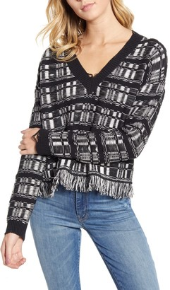 Wildfox Couture Reece Ritzy Fringe Hem Sweater