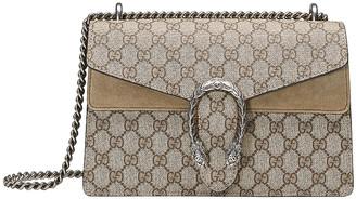 Gucci Dionysus GG Shoulder Bag in Beige Ebony & Taupe | FWRD