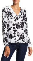 1 STATE 1.State Long Sleeve V-Neck Blouse