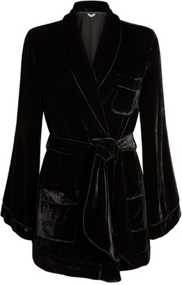 SLEEPING WITH JACQUES Bon Vivant Velvet Robe