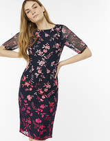 Monsoon Omie Ombre Embroidered Dress