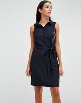 AX Paris Sleeveless Shirt Dress With Drawstring Waist