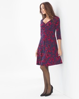 Soma Intimates Long Sleeve Sweetheart Print Dress Pansy