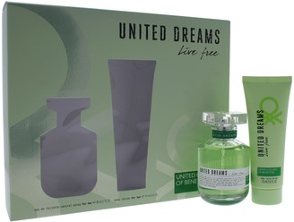 Benetton Dreams Live Free 2 Piece Eau de Toilette Spray Gift Set for Women
