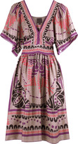 Anna Sui Phoenix deco print dress