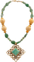 Barse FINE JEWELRY Art Smith by Yellow & Green Gemstone Pendant Necklace
