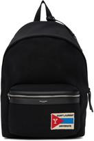 Saint Laurent Black Patch City Backpack