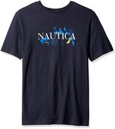 Nautica Men's Big and Tall Signature Graphic T-Shirt, Value Not Found