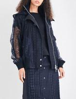 Sacai Hooded lace jacket