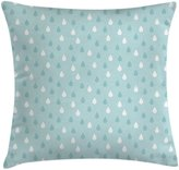 Farmhouse Decor Throw Pillow Cushion Cover by Ambesonne, Separate Droplets Motif in Different Colors Precipitation Drizzle Sky Image, Decorative Square Accent Pillow Case, 24 X 24 Inches, Blue White