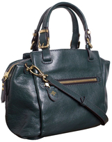 Oryany Evergreen Alexis Pebble Leather Satchel