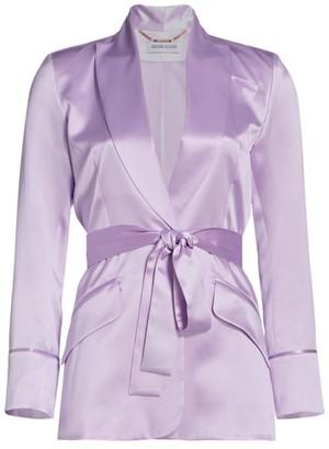 Adriana Iglesias Iba Silk Belted Blazer Jacket