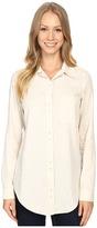 Lilla P Shirting Long Sleeve Button Down Tunic Women's Blouse