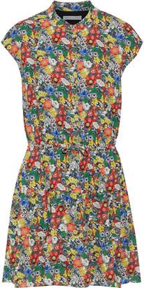 Rebecca Minkoff Ollie Floral-print Crepe De Chine Mini Dress