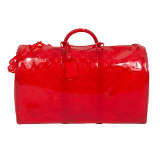 Louis Vuitton Keepall Prism Red Plastic Bags