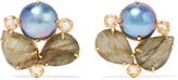 Bounkit Gold-tone multistone earrings
