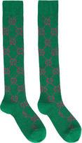 Gucci Green Lurex GG Socks