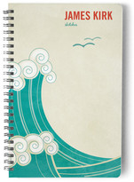 Minted BLOCK PRINT WAVES Day Planner, Notebook, or Address Book