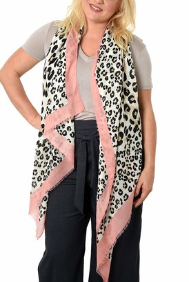 Style Slice Leopard Print Scarves for Women | Animal Print Scarfs | Long Neck Scarf | Presents for Birthdays | Mustard Red | Graduation Gifts | UK Prime | For Her |Scarfs Women | Shawls & Wraps